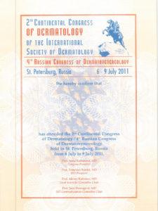 2nd Continental Congress of dermatology