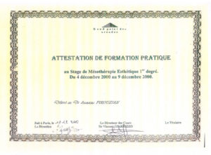 Attestation de Formation Pratique